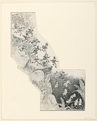 """view """"The Brownies' Tally-Ho,"""" Illustration for """"Another Brownie Book"""" (New York, Century Company, 1890, p. 104) digital asset number 1"""