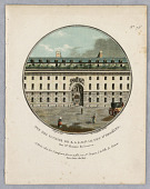 "view Stables of the Duc d'Orléans, Plate 76 from ""Vues Pittoresques des Principaux Édifices de Paris"" digital asset number 1"