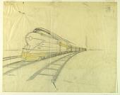 view Final Tissue for Creation of Illustration of Streamline K4s Locomotive, Pennsylvania Railroad digital asset number 1