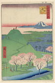 view New Fuji, Meguro (meguro, Shin-Fuji) From the Series One Hundred Famous views of Edo digital asset number 1