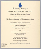 view Invitation and Program for Ceremonies Commemorating the Golden Anniversary of Conservation in America, The Philadelphia Museum of Art, Philadelphia, PA digital asset number 1