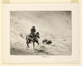 view Cowboy in the Snow (Christmas Card) digital asset number 1