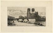 view L'Abside de Notre Dame de Paris (The Apse of Notre Dame, Paris) digital asset number 1