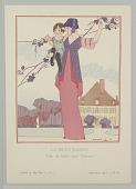 view Gazette du Bon Ton (Journal of Good Taste), Vol. 1, No. 11, La Jeune Maman (The Young Mom), Plate 3 digital asset number 1