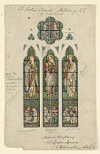 view Design for Stained Glass Window, Saint Peter's Episcopal Church, Albany, NY digital asset number 1