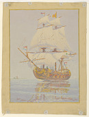 view Frigate, Study for an Overmantle for Mr. MacEldowney, Pittsburgh, PA digital asset number 1