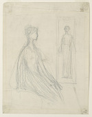 view Studies for the Violet Sargent Bronze Plaque in the Art Institute of Chicago digital asset number 1