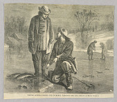 view Winter Sports—Fishing for Pickerel Through the Ice, Illustration for Harper's Weekly (XII, December 26, 1868, cover) digital asset number 1