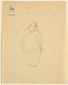 view Rotund Man with Pipe in Profile, On Stationery from Messageries Maritimes digital asset number 1