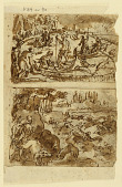 view Sketchbook Page with Hunting scenes digital asset number 1