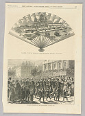 view Fac-Simile of the Fan Distributed After the Tien-Tsin Massacre, Illustration for Every Saturday (December 24, 1870, p. 837) digital asset number 1