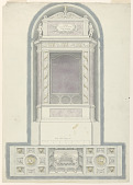 view Elevation of an Altar and Painted Decoration of a Chapel's Ceiling digital asset number 1