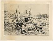 view Un Vieux Port de la Normandie (An Old Port of Normandy) digital asset number 1