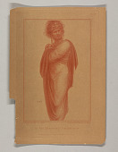 view A Figure with Drapery, Perhaps Dante digital asset number 1
