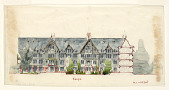 view Project for Hotel for James Gordon Bennett (Newport, RI), Courtyard Elevation and Section digital asset number 1
