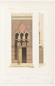 view Entrée d'Un Mosquée a Alexandrie, plate 3, from Les Arts Arabes: architecture—menuiserie . . . digital asset number 1
