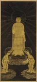 view Welcoming Descent of Amitabha (Amida), Avalokiteshvara (Kannon), and Mahasthamaprapta (Seishi) digital asset number 1