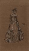 view Standing Woman in Flounced Dress digital asset number 1