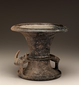 view Vessel with two handles in the form of a bull with horns digital asset number 1