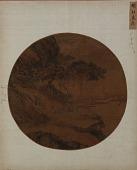 view Landscape: two men on a river-bank under a pine-tree digital asset number 1