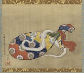 view The Lute and White Snake of Benten (Sarasvati) digital asset number 1