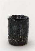 view Kenzan style Black Raku water jar digital asset number 1