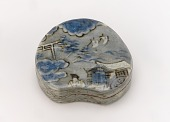 view Kenzan-style Incense container with design of Sumiyoshi Shrine digital asset number 1