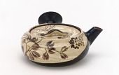 view Side-handled teapot with design of autumn grasses digital asset number 1
