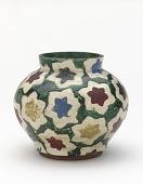 view Water jar or incense burner with design of maple leaves digital asset number 1