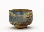 view Tea bowl with design of cherry blossoms digital asset number 1