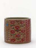 view Incense burner with design of flowers and vine scrolls digital asset number 1