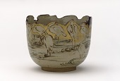 view Serving bowl with design of herons digital asset number 1
