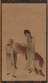 view Two Taoists - a man and a woman - and a lion digital asset number 1