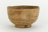 view Hagi ware tea bowl in the shape of a brush washer digital asset number 1