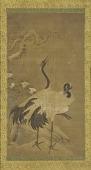view Two Cranes under a Flowering Plum digital asset number 1