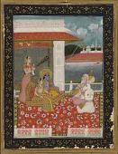 view A musical mode (Sri Raga): Krisna and Radha on a terrace digital asset number 1