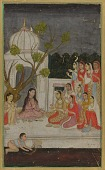 view Fortune-telling; a group of women on a terrace at night digital asset number 1