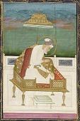 view Emperor Aurangzeb; reverse: calligraphic panel digital asset number 1