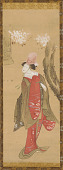 view A Dancer, Kiyohime, a cherry tree and the bell of Dojo-ji digital asset number 1