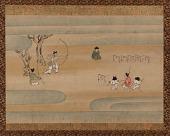"view ""The Archery Contest"", from <em>Shotoku Taishi Eden</em> (An Illustrated History of Prince Shotoku) digital asset number 1"