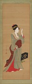 view A geisha about to adjust a tortoise-shell hairpin digital asset number 1