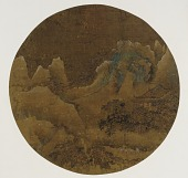 view Mountain landscape: crags, temple and pines digital asset number 1