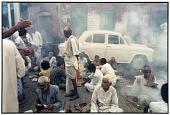 view Durga Puja Rites, Kali Temple, Calcutta, 1987 digital asset number 1