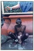 view Pavement Dweller and Advertisement for Tea, Calcutta, 1987 digital asset number 1