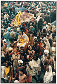 view Holy Man in a Palanquin, Kumbh Mela, Allahabad, 1977 digital asset number 1