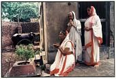 view Bengali Women Worship the Tulsi plant, Calcutta, 1986 digital asset number 1