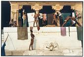 view Wrestlers and Image of Bhima, Banaras, 1986 digital asset number 1