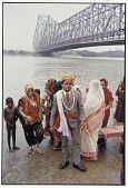 view Bridegroom and Party near Howrah Bridge, Calcutta, 1968 digital asset number 1