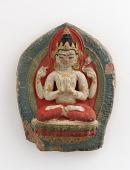 view Votive plaque (<i>tsa-tsas</i>) of Avalokiteshvara digital asset number 1