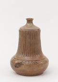 view Satsuma ware sake bottle with design of floral sprays digital asset number 1